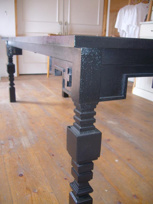 黒テーブル:手作り家具 Lion honey ...
