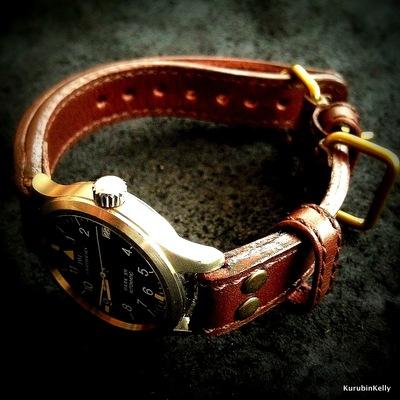 『作り方&型紙無料』レディース腕時計のベルト( …