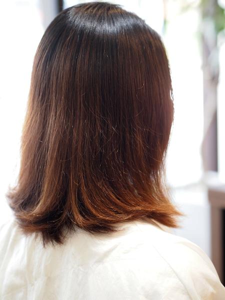 バッサリ刈り上げ女子 沖縄美人のツーブロックヘアスタイル ビフォアー&アフター写真3