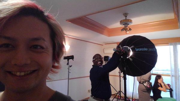 沖縄県北谷町美浜の美容室パドドゥレキオの店長 池原のモデル撮影