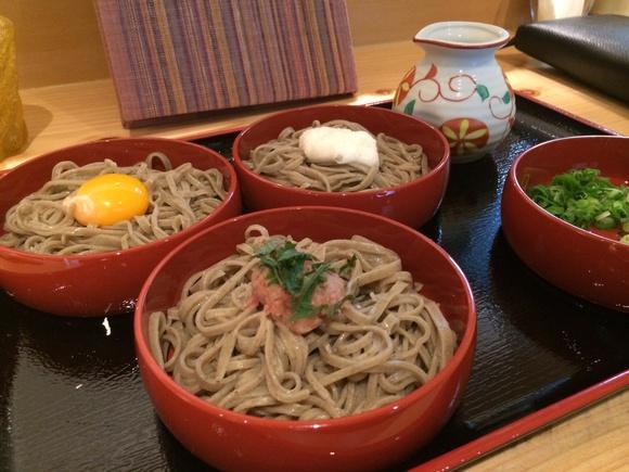 日本蕎麦 松平の三色割子